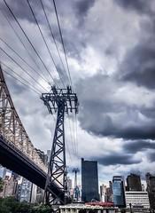 Roosevelt Island (Abrajax) Tags: city sky urban newyork clouds wires rooseveltisland