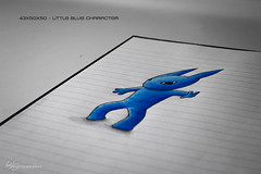 43x50x50 - Little Blue Character (Forty-9) Tags: canon eos60d eflens ef50mmf18ii 50mm 50x50x50project 50x50x50 50x50x50challenge 43x50x50 niftyfifty niftyfiftyproject lightroom yongnuo yongnuospeedliteyn560iv studio strobism strobist flash forty9 tomoskay thursday july 2016 28072016 drawings drawing blue character littlebluecharacter 28thjuly2016