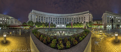 Woodrow Wilson Plaza (D. Scott McLeod) Tags: woodrowwilsonplaza federaltriangle washingtondc districtofcolumbia dc panorama night dscottmcleod scottmcleod