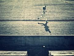 Lone Wolf Running (SheffieldStar) Tags: canada costume bc britishcolumbia victoria jogging beermile runningtrack victoriahighschool