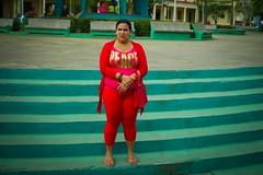 Cuba. Bus Window Shot (3) (H.L.Tam) Tags: street red woman cuba streetphotography documentary sketchbook cuban handbag streetfashion photodocumentary buswindowshot cubasketchbook