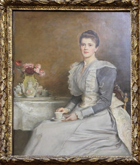 John Everett Millais - Portrait of Mary Endicott, Mrs Joseph Chamberlain 1891 (ahisgett) Tags: preraphaelite birmingham art gallery museum