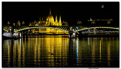 Margaret Bridge (grbenson3) Tags: nightshot budapest hungary danuberiver river bridge reflection