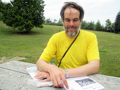 Stamping In at Peterson Park (BunnyHugger) Tags: letterboxing michigan northport petersonpark