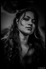 Dolce Vita (Pilouchy) Tags: portrait people blackandwhite monochrome eyes women femme lumiere bella diva regard