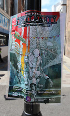 Whitecross street party. Poster (ec1jack) Tags: uk party summer england london art poster graffiti robot europe market britain july saturday 16th islington oldstreet 2016 whitecrossstreet kierankelly ec1jack riseofthenonconformists canoneos600d