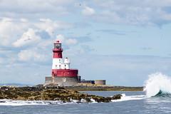 Longstone Lighthouse (martinstelbrink) Tags: farne farneislands seahouses northumberland england uk unitedkingdom island insel nordsee northsea sony alpha77ii a77m2 a77ii sigma120400mmf4556 sigma tele longstonelighthouse outerfarne lighthouse leuchtturm brandung surf welle wave
