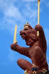 The Queen's Gallery (richardr) Tags: queensgallery holyrood sculpture lion heraldry building architecture scotland scottish edinburgh britain british greatbritain uk unitedkingdom europe european history heritage historic old