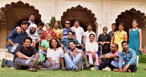 Accessible Tour of Red Fort, New Delhi: The group photo with all the travellers.
