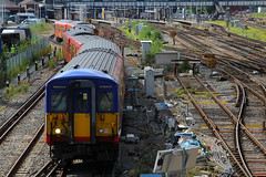 5737 & 5722, Guildford, July 14th 2016 (Suburban_Jogger) Tags: 455722 5722 455737 5732 class455 brel southwesttrains londonwaterloo railway train railroad electricmultipleunit guildford surrey july 2016 summer canon 60d 24105mm