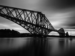Forth Rail Bridge (PeskyMesky) Tags: forthrailbridge forth edinburgh le longexposure flickr scotland monochrome bw blackandwhite blackwhite canon canoneos500d