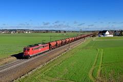 """151 070 """"DB"""" Herbertshofen (Matthias Greinwald) Tags: 151 070 db baureihe deutsche bahn cargo railion gterzug zug herbertshofen augsburger strecke kohlezug"""