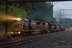 Q418-30 @ Woodbourne, PA (Dan A. Davis) Tags: csx freighttrain locomotive pennsylvania woodbourne langhorne railroadphotography sd60m gp382 cw44ac ac44cw q418