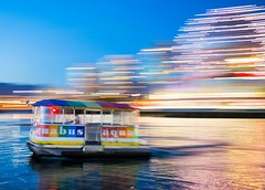 After watching all of the amazing Olympic athletes in Rio, I think all of us feel like moving a little faster these days! (Spencer Finlay) Tags: lights boat blur speed bluehour nightphotography vancouver olympicvillage panning
