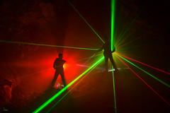 Lightpainters' Duel (Waving lights in the dark) Tags: duel derbyshire cave lightpainter lightpainters lightpainted lightpaint collaboration lasers laser dark afterdark nightphotography nocturnal faffery wavinglightsinthedark