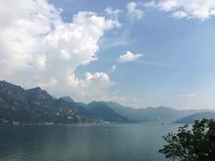 (Paolo Cozzarizza) Tags: italia lombardia bergamo rivadisolto acqua lago lungolago panorama cielo riflesso alberi