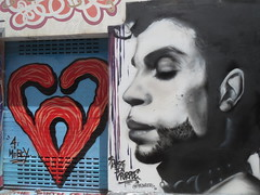 Prince Mural Art (shaire productions) Tags: urban street art image picture mural sf sanfrancisco mission district photograph murals paintings wall imagery prince memorial portrait singer musician
