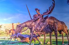Don Quixote and Moose (color) (Michael F. Nyiri) Tags: california southerncalifornia anzaborrego desert ricardobreceda art sculpture metalsculpture temeculacalifornia