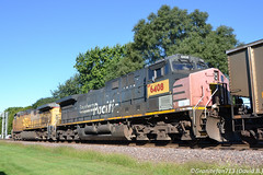 UP 6408 GE C44AC (Patched SP) (Trucks, Buses, & Trains by granitefan713) Tags: train locomotive ge generalelectric trailingunit trailing sp southernpacific patched exsp up unionpacific gec44ac c44ac ac4400 ac44cw geac4400 heritage power gepower