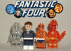 Fantastic Four (John Blackstar) Tags: fantastic four lego marvel mister invisible woman comics