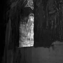 . (fusion-of-horizons) Tags: biserica domneasc trgovite church architecture arhitectura orthodox targoviste trgovite wallachia muntenia tara romaneasca orthodoxy   light lumina romania old royal princely court curtea domneasca interior icoana icon icoane icons ortodoxa ortodox mural murals fresco fresca frescoes eikn iconography iconografie sfant saint window fereastra painting pictura art arta istorie history noncoloursincolour romanian lmidbiima1723707 eastern romana ortodox romn bor cldire arhitectur fotografie de photography photo photos patrimoniu monument