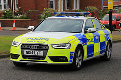 Northumbria Police Audi A4 Roads Policing Unit Traffic Car (PFB-999) Tags: northumbria norpol police audi a4 saloon roads policing unit rpu traffic car vehicle lightbar grilles fendoffs wing mirror lights leds nk14lyf sunderland airshow 2016