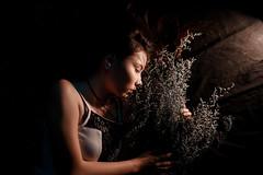 IMG_3351 (Vuong Quoc - Photomanipulation) Tags: manipulation portrait girl flower lowekey lowkey
