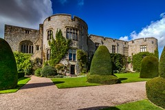 Chirk Castle 3 (21mapple) Tags: chirk cas chirkcastle nationaltrust national nt trust trees turret turrets blue bricks stones stately house home hdr bushes building outdoors outside outdoor old medieval elizabethan wales wow