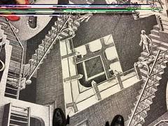 Escher on the train #escher #mrt #singapore (BoyUtot) Tags: escher mrt singapore