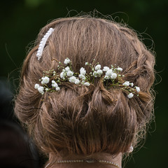 Baby's Breath Up Do (janedsh) Tags: sharpfamily horner hairstyle updo people morgan holman photography wedding babysbreath photo by jane holmanphotoscom hair holmanphotography photobyjane
