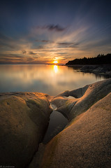 Summer_night (JLindroos) Tags: summer night sun clouds long exposure horizon rocks rock lee filters big stopper canon zeiss pori reposaari finland jlindroos