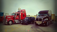 Big Meet Malta (Daniel's Transport Photos) Tags: kenworth ford t2000 w900 trucks halfar truck malta classic
