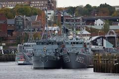 M314 Sakala, M341 Karmoy, M864 Hr Ms Willemstad, M923, Narcis, A960 Godetia, M1058 Fulda at Spillars Warf Newcastle (SteveT0191) Tags: m923 m1058 ship warship