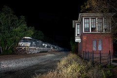 NS 650 - Hungtingdon, PA (T-3 Photography) Tags: norfolksouthern ns night nighttime flash pennsylvania pa canon 5dmarkii 1740mm speedlite