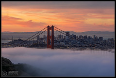 Pastel-icious Bridge-ilicious (Aaron M Photo) Tags: bridge california goldengate goldengatebridge hawkhill june lfe marin marincounty marinheadlands monument nikon nikond800 sf sanfran sanfrancisco sanfranciscobay sanfranciscophotography sanfrancsico sunrise burn city cityscape clouds escaype fog landscape lowfog nature