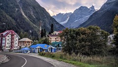 village Dombay, altitude 1619 (Lyubov) Tags: dombay altitude mountains caucasus