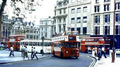 Slide 079-86 (Steve Guess) Tags: london england gb uk bus westminster victoria open top topper topless bmmo midland red d9 obslete fleet transport om3 trafalgar square