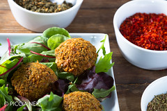 Falafels (PicciaNeri) Tags: middleeast chef chickpeas chili chilli condiment coriander cuisine delicacy delicatessen dish eat eaves falafel food fresh freshness fried gourmet greens healthy herb hot hoummus hummus ingredient lettuce middleeastern natural nutrition oil olives organic oriental paprika pepper salad scent seasoning snack spice spicy vegan vegetarian