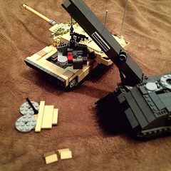 """""""Houston, we have liftoff!"""" (ABS Defence Systems) Tags: chassis 2 leopard afv arv bffel 3 bergepanzer lego wip"""