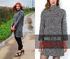 Sale: Grey Knitted Sweater Dress With Exposed Zip (La Redoute)