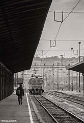 Already gone.... (MirkoJeremic) Tags: blackandwhite station train serbia belgrade voz beograd kolosek zeleznickastaanica