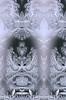 Tri-panel frosty window (Rebecca Reinhart) Tags: winter pareidolia frost icecrystals icywindow mirrorimages frostywindow nikond3100 photoshopcompositephoto