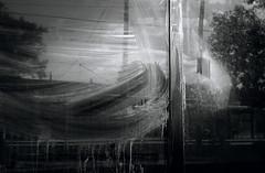 Streaky Windows (JeffStewartPhotos) Tags: windows blackandwhite bw abandoned window blackwhite dirty vacant toned streaky