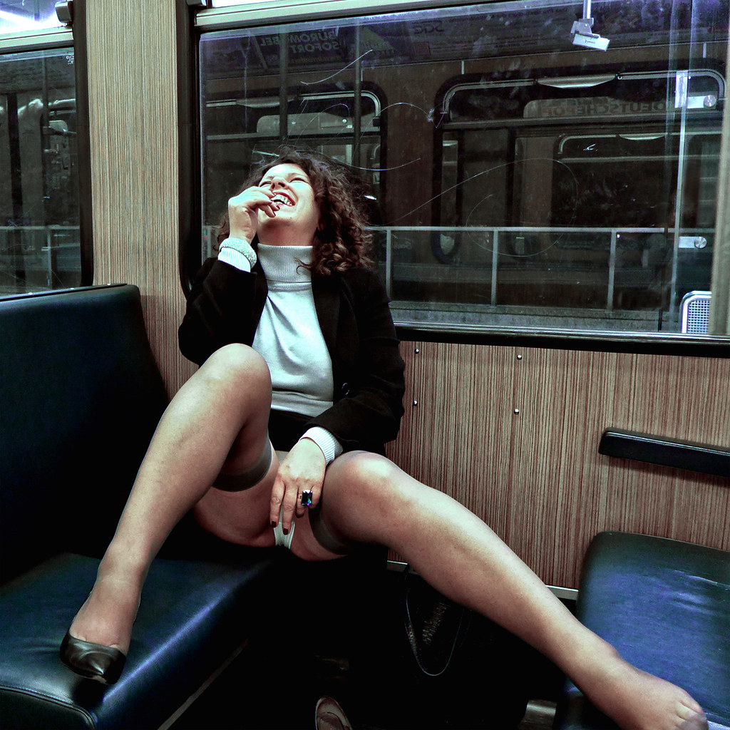 flashing on a train