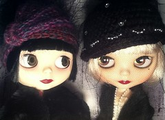 Blythe-a-Day November: Thankful For; Winter Is Coming: Daisy and LaVern