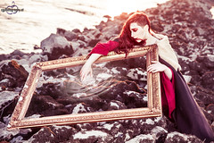 Another Reality (CorneliaGillmannPhotography) Tags: portrait art water magic surreal wave eerie medieval frame