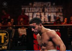 "Raymond ""Tito"" Serrano bleeds after a head collision (photo.solis) Tags: ny newyork sport box huntington longisland paramount espn fridaynightfight starboxing"