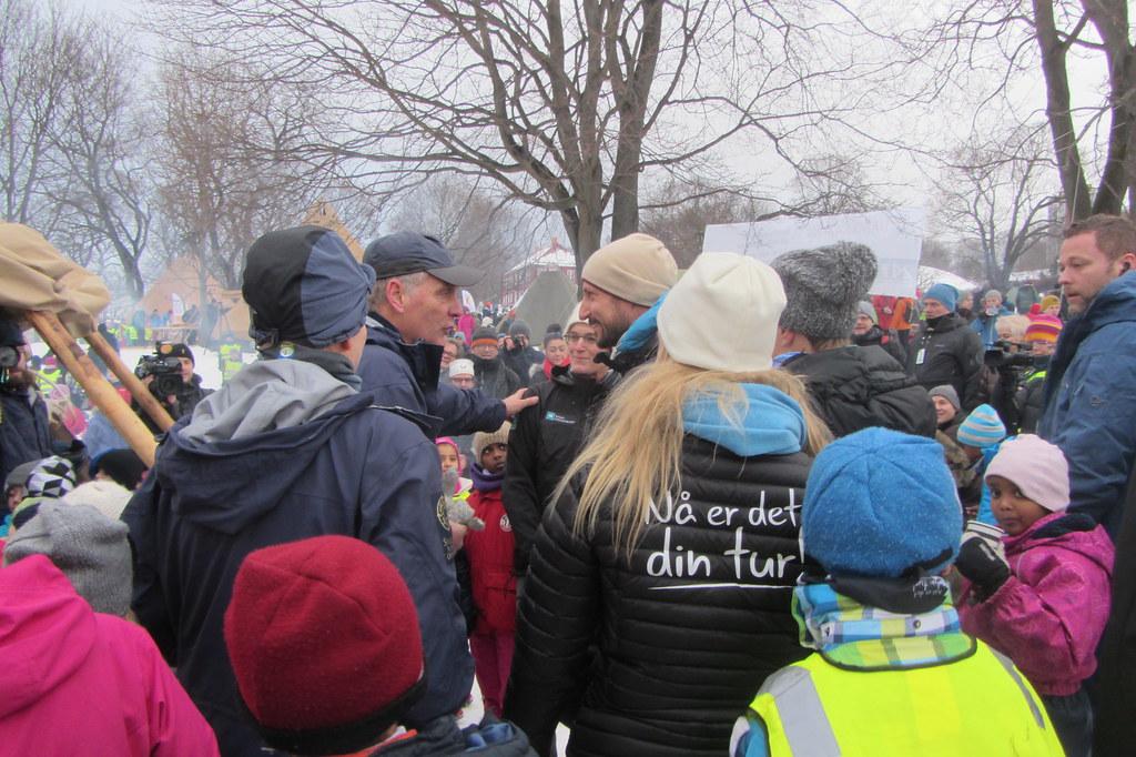 Friluftslivets år 2015 - åpning i Tøyenparken i Oslo 13. januar