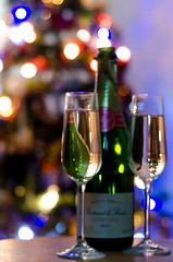 New Years eve (T180985) Tags: christmas tree glass festive lights glasses wine champagne