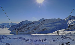 Jungfraujoch (t.horak) Tags: blue white mountains switzerland europe map top glacier jungfrau
